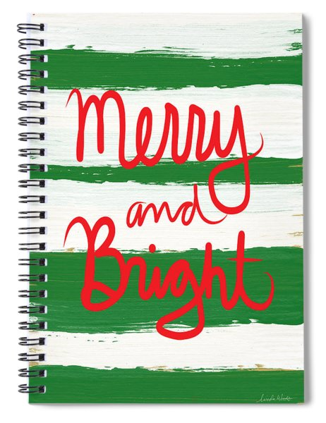 Merry And Bright- Greeting Card Spiral Notebook