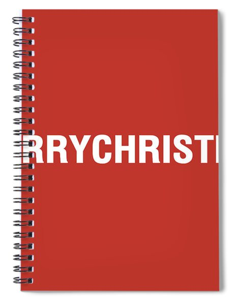Merry Christmas Hashtag Spiral Notebook
