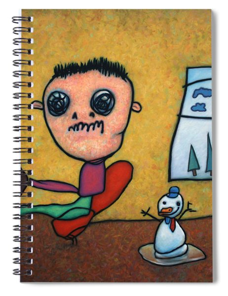 Spiral Notebook featuring the painting Merry Christmas by James W Johnson