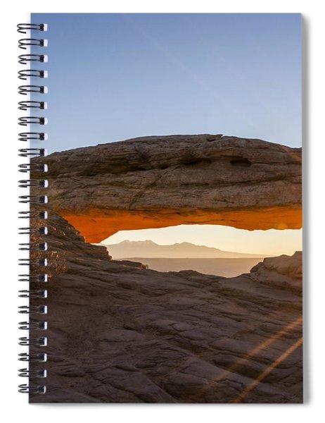 Mesa Arch Sunrise 7 - Canyonlands National Park - Moab Utah Spiral Notebook