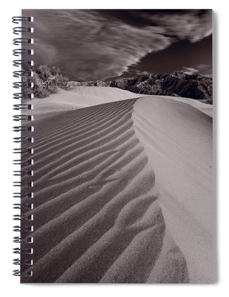 Mesquite Dunes Death Valley B W Spiral Notebook