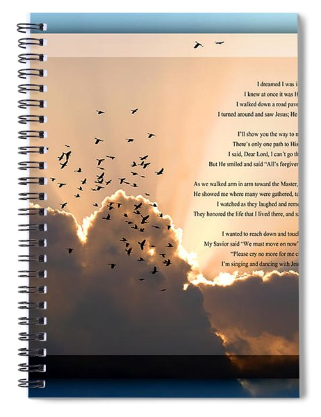 Message From Heaven Spiral Notebook
