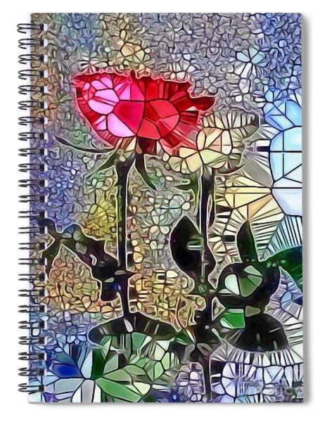 Metalic Rose Spiral Notebook