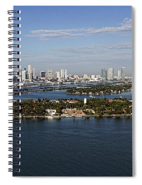 Miami And Star Island Skyline Spiral Notebook