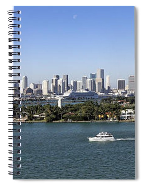 Miami Daytime Panorama Spiral Notebook