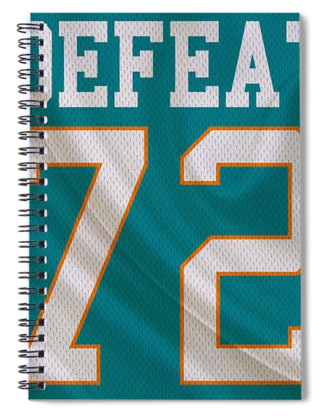 Miami Dolphins Undefeated Season Spiral Notebook