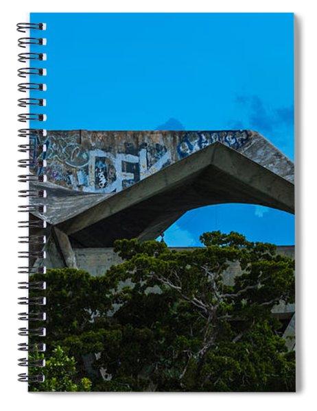Spiral Notebook featuring the photograph Miami Marine Stadium by Ed Gleichman