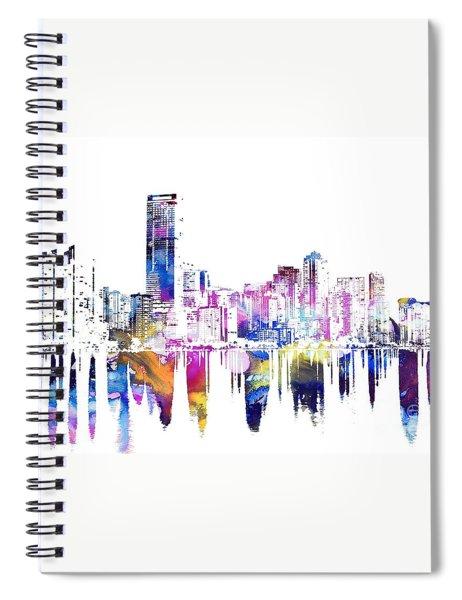 Miami Skyline Spiral Notebook