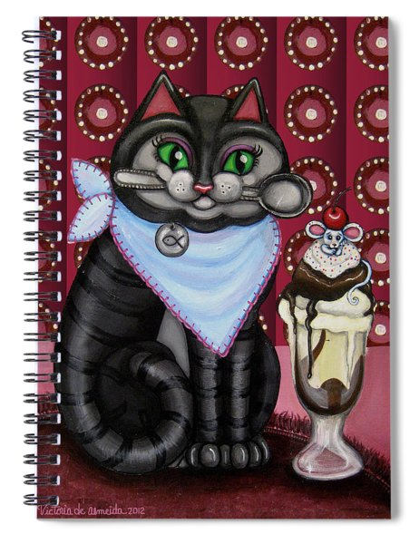 Mice Cream Spiral Notebook