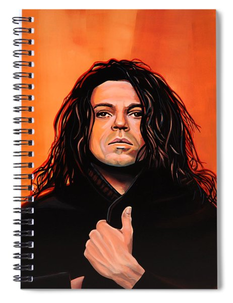 Michael Hutchence Painting Spiral Notebook