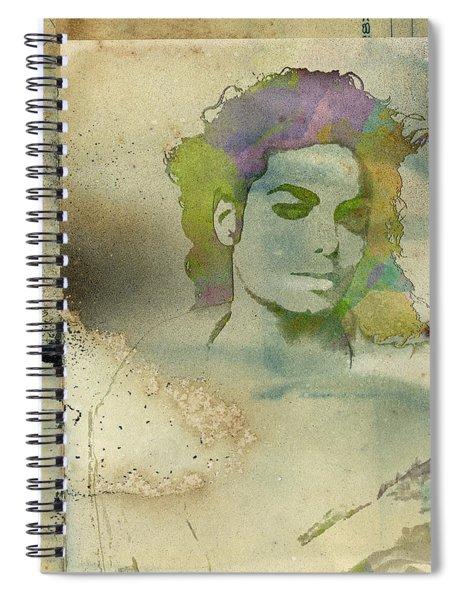 Michael Jackson Silhouette Spiral Notebook