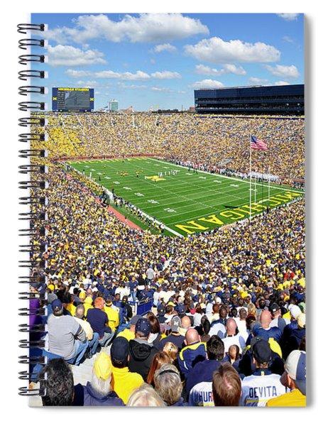 Michigan Stadium - Wolverines Spiral Notebook