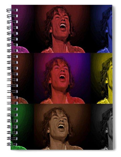 Mick Jagger Pop Art Print Spiral Notebook