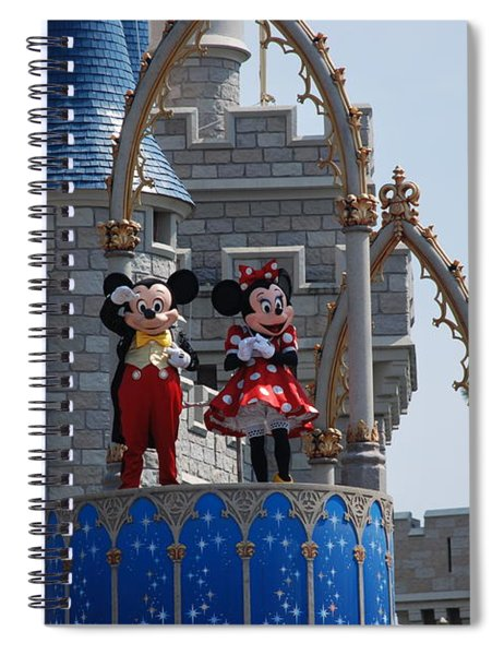 Mickey And Minnie In Living Color Spiral Notebook