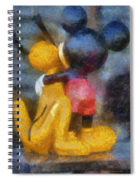 Mickey Mouse Photo Art Spiral Notebook