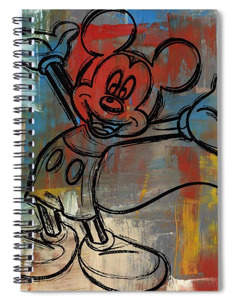 Mickey Mouse Sketchy Hello Spiral Notebook