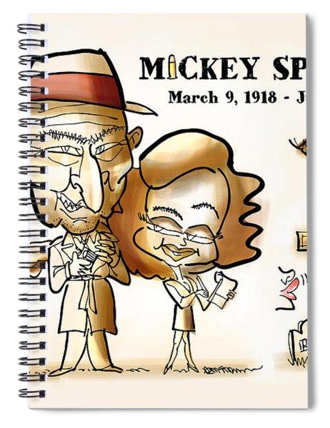 Mickey Spillane Spiral Notebook