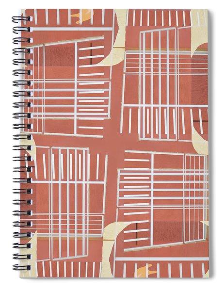 Mid-century Design Terra-cotta Spiral Notebook