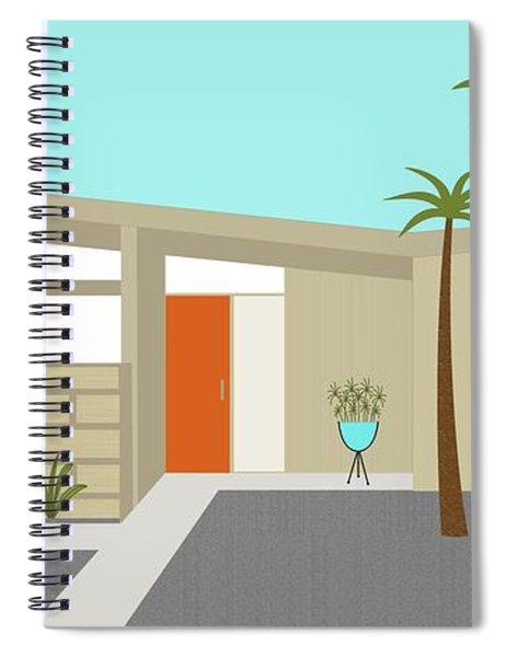 Mid Century Modern House 1 Spiral Notebook