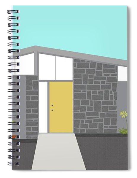Mid Century Modern House 2 Spiral Notebook