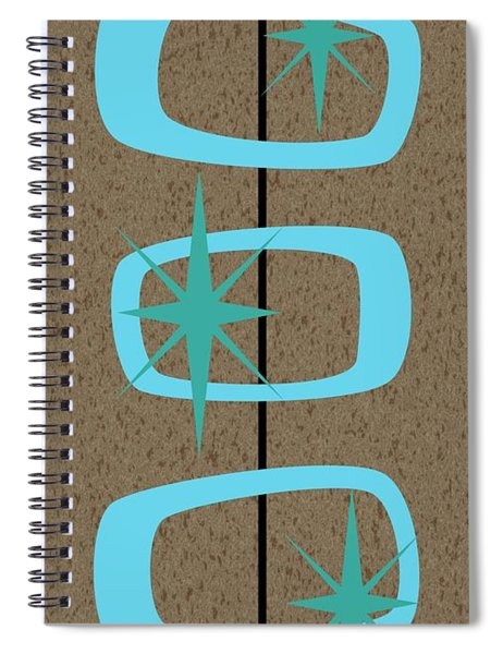 Mid Century Modern Shapes 1 Spiral Notebook