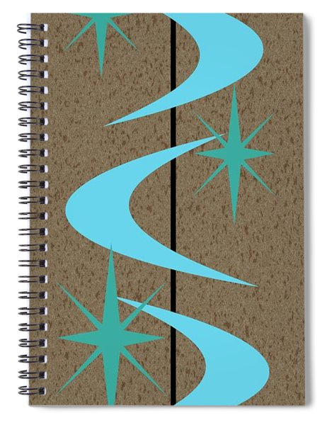 Mid Century Modern Shapes 2 Spiral Notebook
