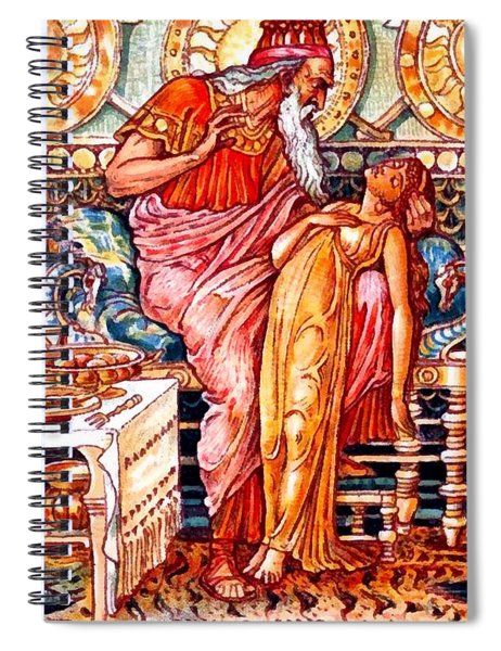 Midas Turns His Daughter To Gold Spiral Notebook