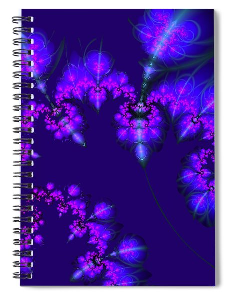 Midnight Blossoms Spiral Notebook