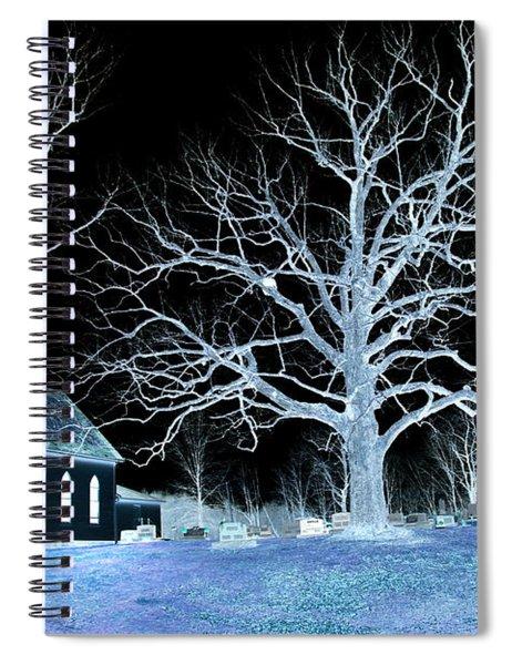 Midnight Country Church Spiral Notebook