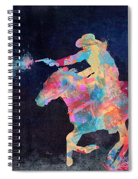 Midnight Cowgirls Ride Heaven Help The Fool Who Did Her Wrong Spiral Notebook