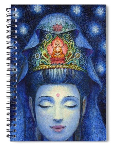 Midnight Meditation Kuan Yin Spiral Notebook