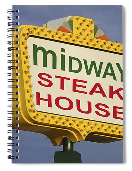 Midway Seaside Heights Boardwalk Nj Spiral Notebook