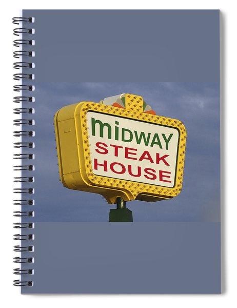 Midway Seaside Heights Boardwalk Nj Spiral Notebook