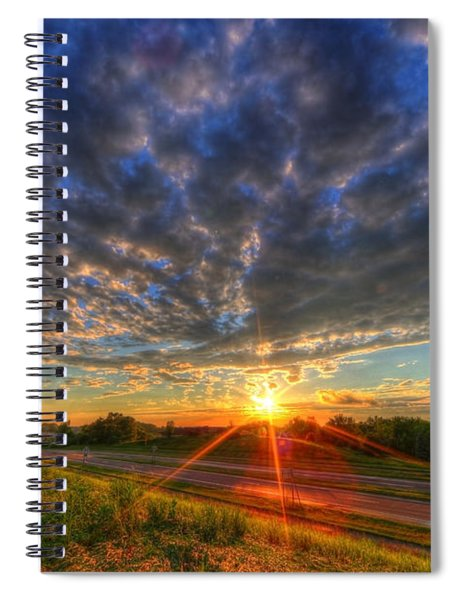 Midwest Sunset After A Storm Spiral Notebook