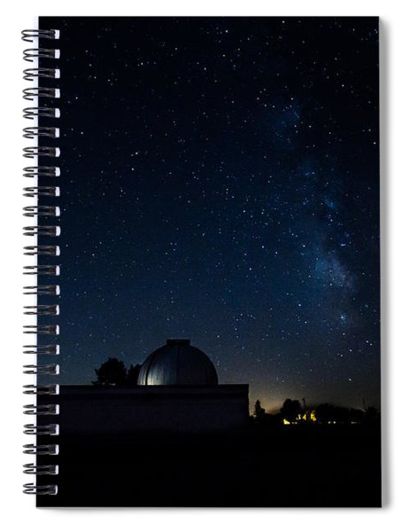 Milky Way And Observatory Spiral Notebook