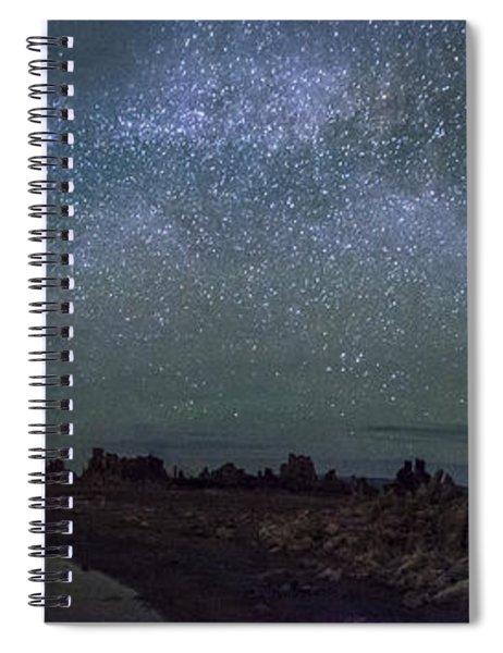 Milky Way At Mono Lake Spiral Notebook