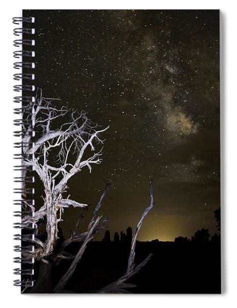 Milky Way Over Arches National Park Spiral Notebook