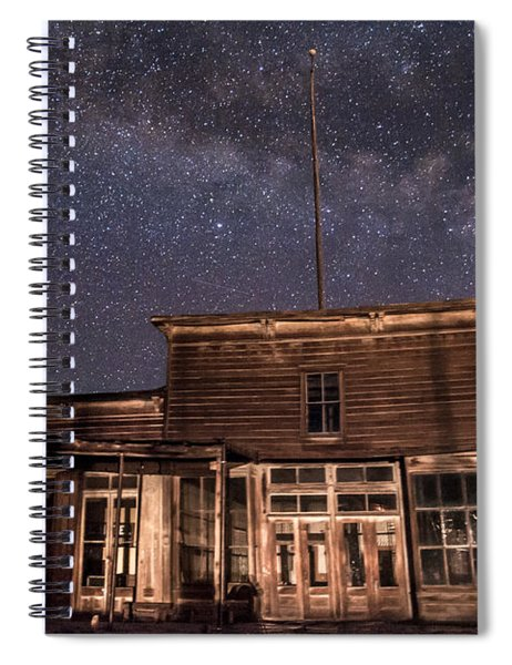 Milky Way Over  Wheaton And Hollis Hotel Spiral Notebook