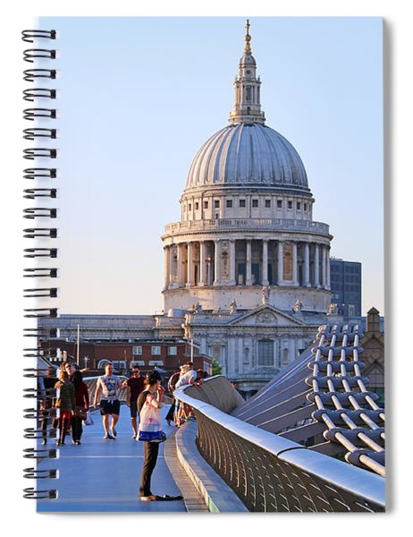 Millennium Bridge And St Pauls Cathedral 5403 Spiral Notebook