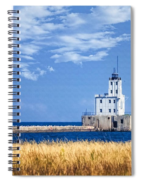 Milwaukee Breakwater Spiral Notebook
