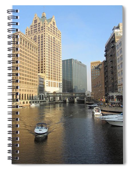 Milwaukee River Theater District 3 Spiral Notebook
