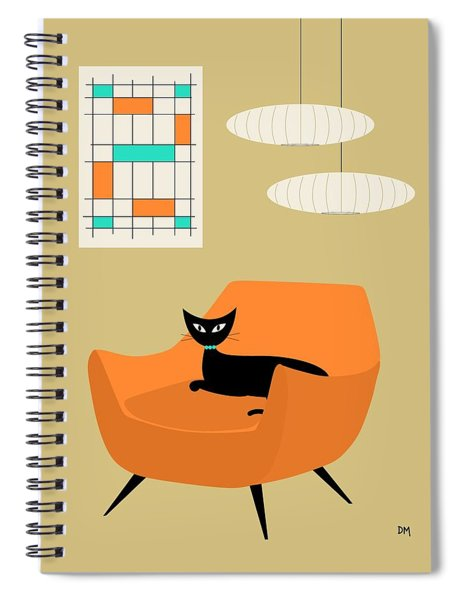 Mini Abstract With Orange Chair Spiral Notebook