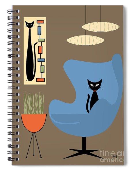 Mini Rectangle Cat Spiral Notebook