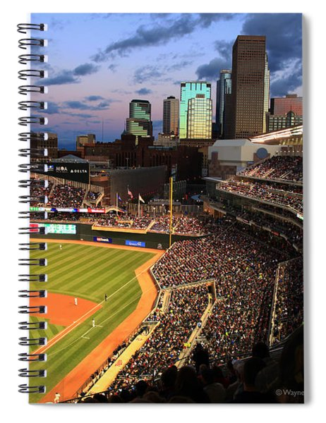 Minnesota Twins Minneapolis Skyline Target Field Spiral Notebook