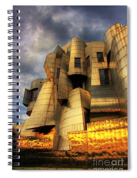 Minneapolis Skyline Photography Weisman Museum Spiral Notebook