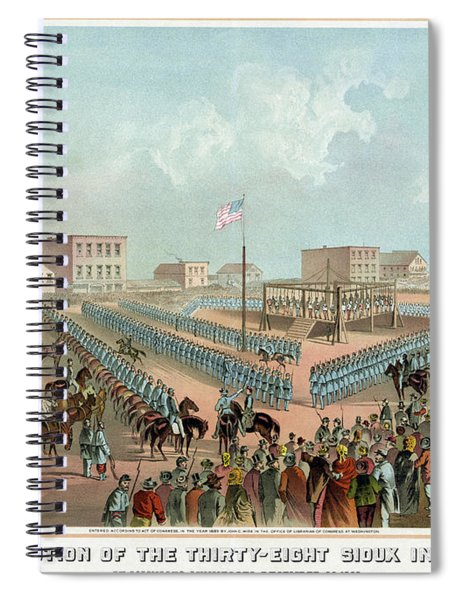 Minnesota Execution, 1862 Spiral Notebook