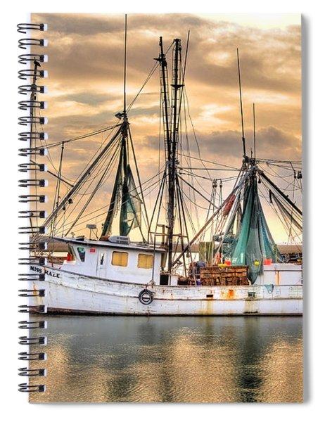 Miss Hale Shrimp Boat Spiral Notebook