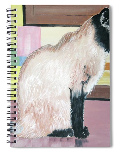 Miss Kitty And Her Treat Spiral Notebook