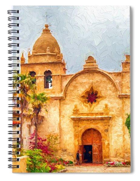 Mission San Carlos Borromeo De Carmelo Impasto Style Spiral Notebook