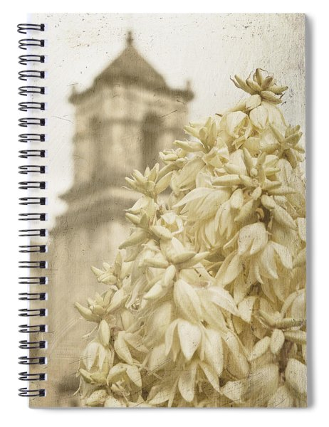 Mission San Jose And Blooming Yucca Spiral Notebook